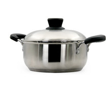 Wholesale Double Bottom metal Stainless Steel Casserole with cover and ear