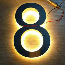 Outdoor Bright Luminous Acrylic Waterproof 304 stainless steel Backlit LED house number with a free transformer and screws