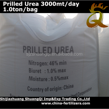 Prilled Urea N 46%min with Ton Bag For Singopore Market