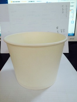 logo printed disposable paper buckets