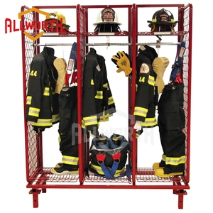 3 - Pack Wire Mesh Wall Mounted Fireman Rack, Locker, Compartment