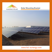 Solar panel ground mounting support systems