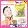 Beauty Care Nonwoven compressed Facial Masks Wholesale/Round shape compressed facial coin tissue/Magic compressed facial napkin