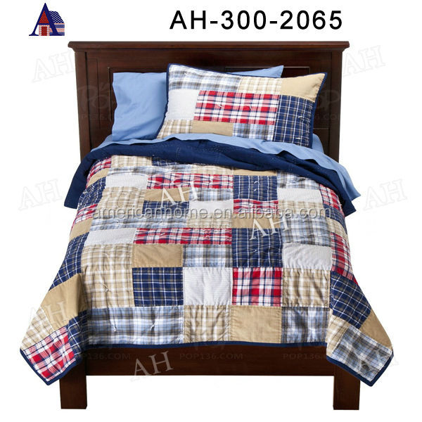 Printed Bedding Set Cotton/Polyster Bottom Top Cover Pillow Case Bed Quilt