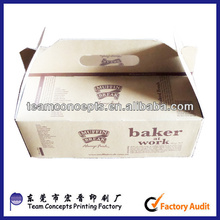cheap recycled brown kraft paper food box wholesale