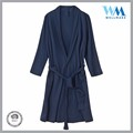 China factory low price turkish sauna fleece navy bath robe