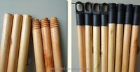 china wooden mop and broom holder natural wooden broom handle