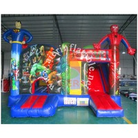 wholesale sports equipment / superman kids inflatable castle tent /inflatable jumping castle combo