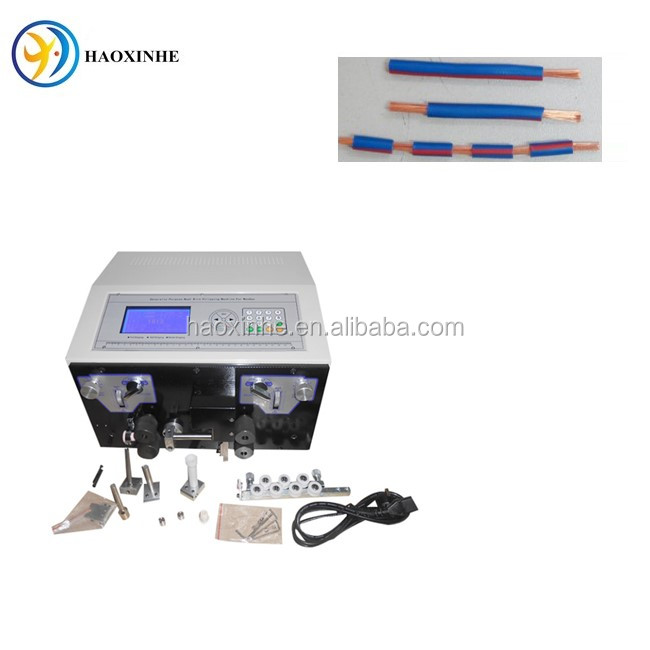Sheathed wire stripping machine in cable manufacturing equipment