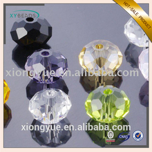 wholesale crystal glass rondelle beads for DIY jewelry decorating