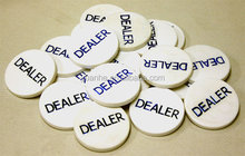 DEALER BUTTONS 2 INCH TEXAS HOLDEM POKER CASINO