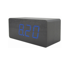 WB MX1298 Modern decoration dual color table clock USB recharging wooden LED clock