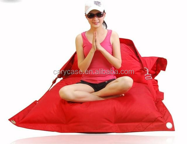 SOLID BLACK Flexible Buckle belt outdoor bean bag chair , buggle ups beanbag furniture beanbag seat