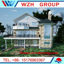 prefab house with low cost modern prefabricated house with good appearance