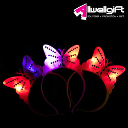 New LED butterfly headband novelties butterfly flashing party head band