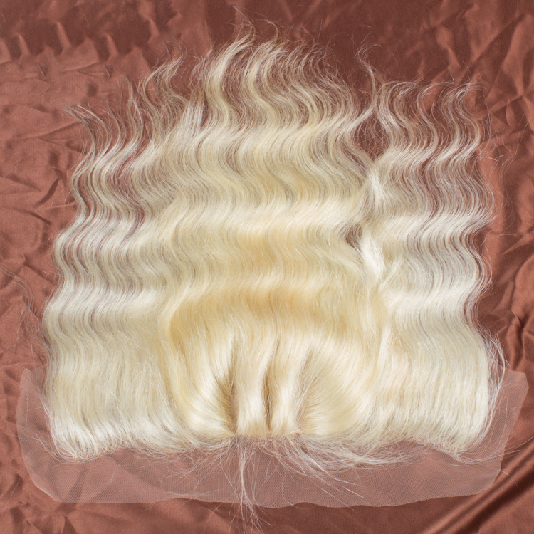 Large Stock 613 Silk Top Base Lace Frontal 10~28 Inch Silky Straight Blonde Remy Human Hair Lace Frontal With Baby Hair