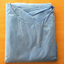 Disposable medical PP/SMS/SSS/SS non woven isolaton gown