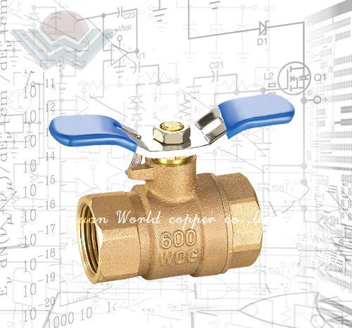 Quarter turn full port ball valves Bronze body construction with hard chromed brass ball