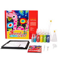 Cheap diy toy funny colorful cartoon sand art painting kit for kids
