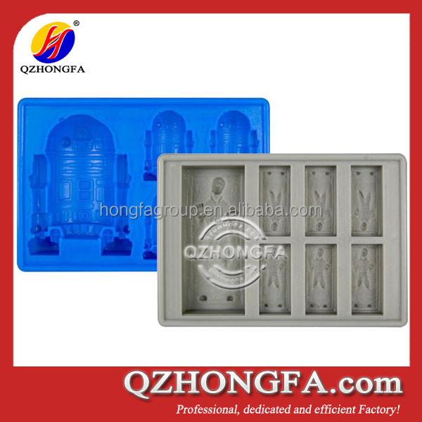 2015 New Design Wholesale Cool Star War Silicone Ice Tray