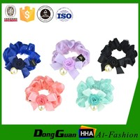 Factory Supply Decorative Girls Cloth Flower Hair Bands With Wholesales
