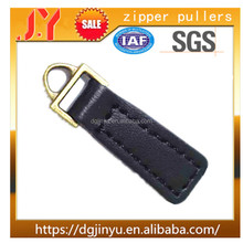 Custom Alloy metal with leather Zipper Puller For leather Bag