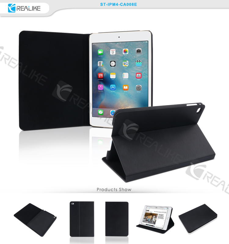 PU material 8inch size flip leather case for ipad mini 4, tablet case for apple ipad mini4