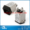 2015 UL VDE approved Low pass single phase line AC power socket noise emi filter