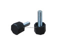 Black Furniture plastic adjustable leg M6x20mm