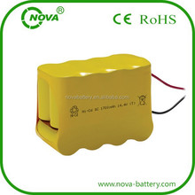 ni-cd sc 1700mah 14.4v rechargeable battery pack