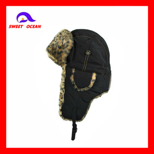 polyester winter hats with flaps
