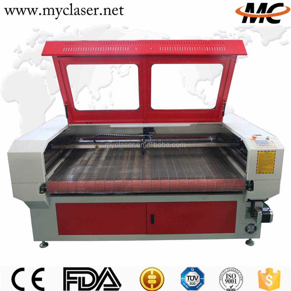 MC1610 single double four heads fast speed fabric laser cutting machine