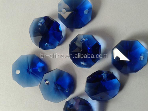 Machine cut crystal octagonal beads for crystal chandelier accessories