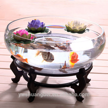 Large Round Glass Fish Tank, Aquarium Fish Tank High Transparence