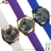 silicone strap different colors new style men and women wholesale china watch