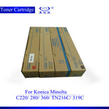 Color copier toner cartrige compatible for konica minolta tn216 bizhub c280 c220 c360
