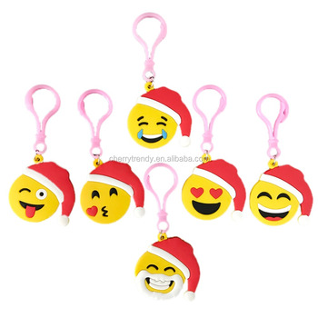 Cute Emoji Keychains Emoticon Backpack Clips Kids Party Supplies