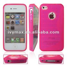 Hot Crystal Clear TPU Case for iphone4 in Stock