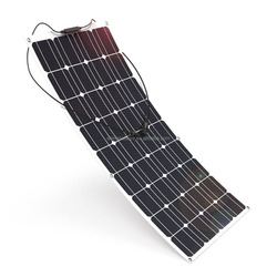 Flat Solar Panel System Hot Sale High Efficiency 50w 100w 120w 150w 200w 250w 300w Flexible Mono Pv Solar Panel