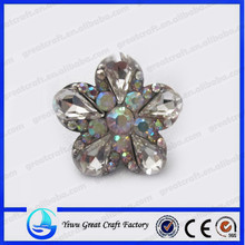 flower shaped diamond shoes buckle