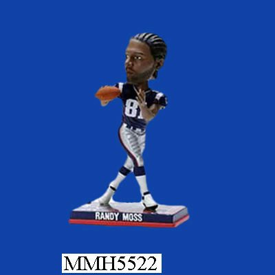 Randy Moss New England Patriots polyresin promotional bobblehead