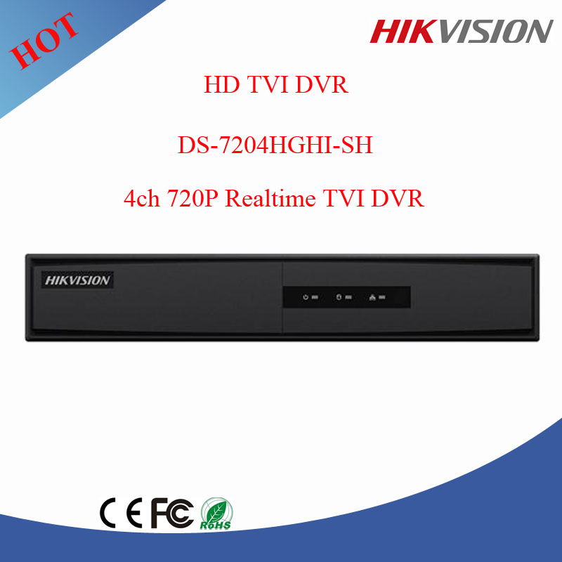 Hikvision turbo 4ch <strong>DVR</strong> mini <strong>dvr</strong> hd tvi <strong>dvr</strong> with 4TB HDD DS-7204HGHI-SH