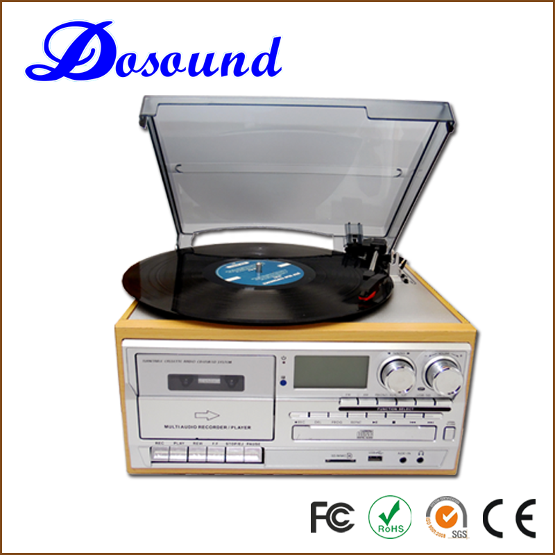 2014 hot sale good quality 3 speed multiple bluetooth speaker cd record player and optical record player WITH RECORD / CASSETTE
