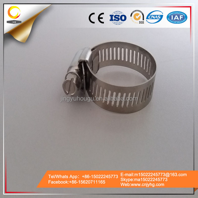 American Stainless Steel Auto Pipe Clamp Heavy Torque Hose Clamp