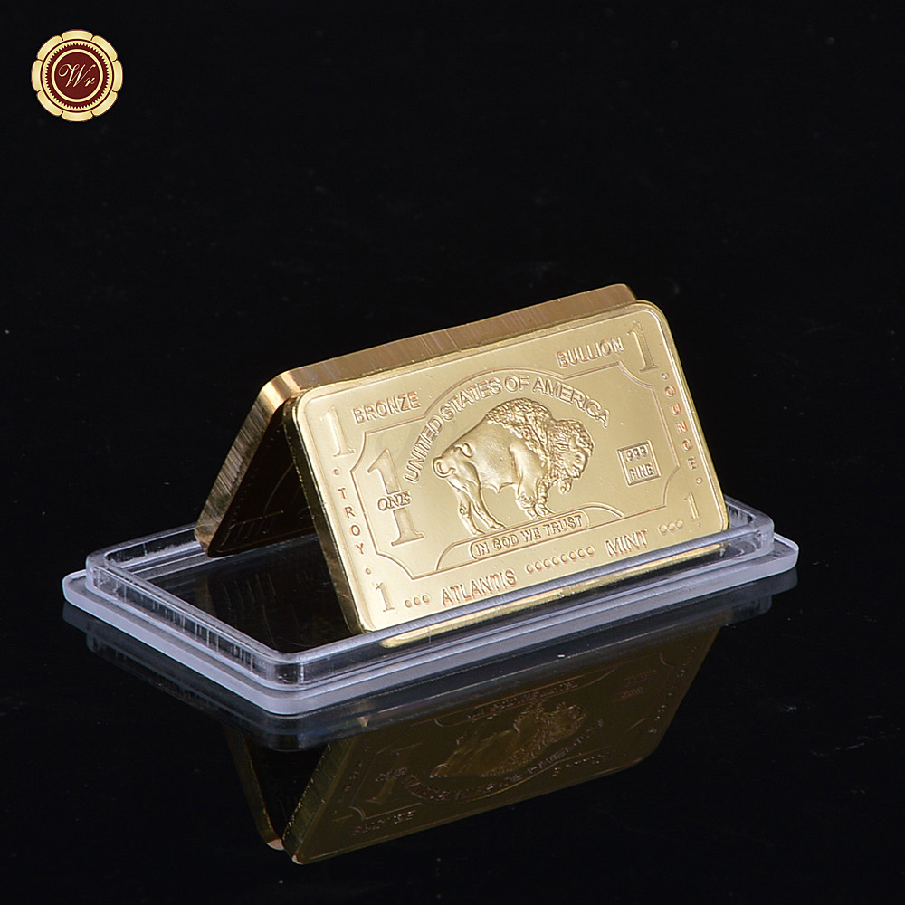 WR 999 Gold One Troy Ounce Atlantis Mint 24k Pure Gold Bullion Bar with Free Capsule