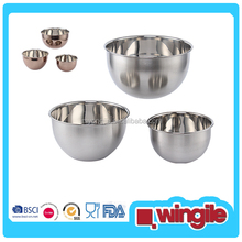 colorful popular stainless steel mixing bowl set