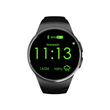 2016 New hot sales bluetooth smart watch support IOS and android round screen KW18 smart watch