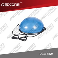 BOSU ball with resistance tube