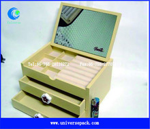 standing mirror jewelry box with lock wholesale with OEM design made in china