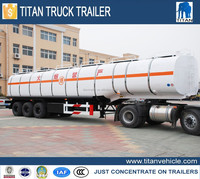 Tri axle storage refuel tank truck trailer, 50000 liters storage refuel tank truck